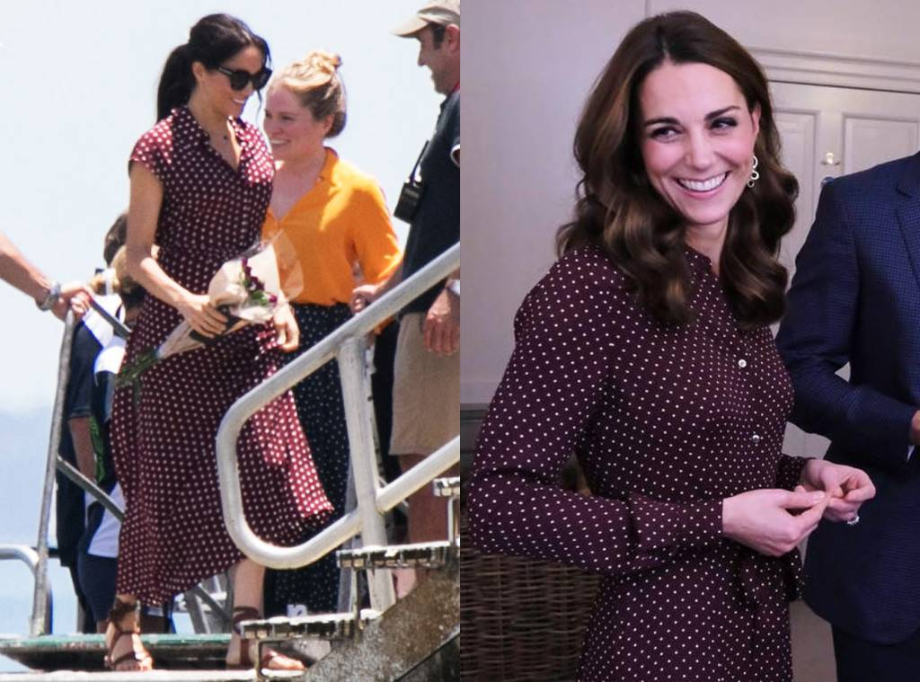 e426abeebc Meghan Markle and Kate Middleton Are Twinning Royals in Polka Dots ...