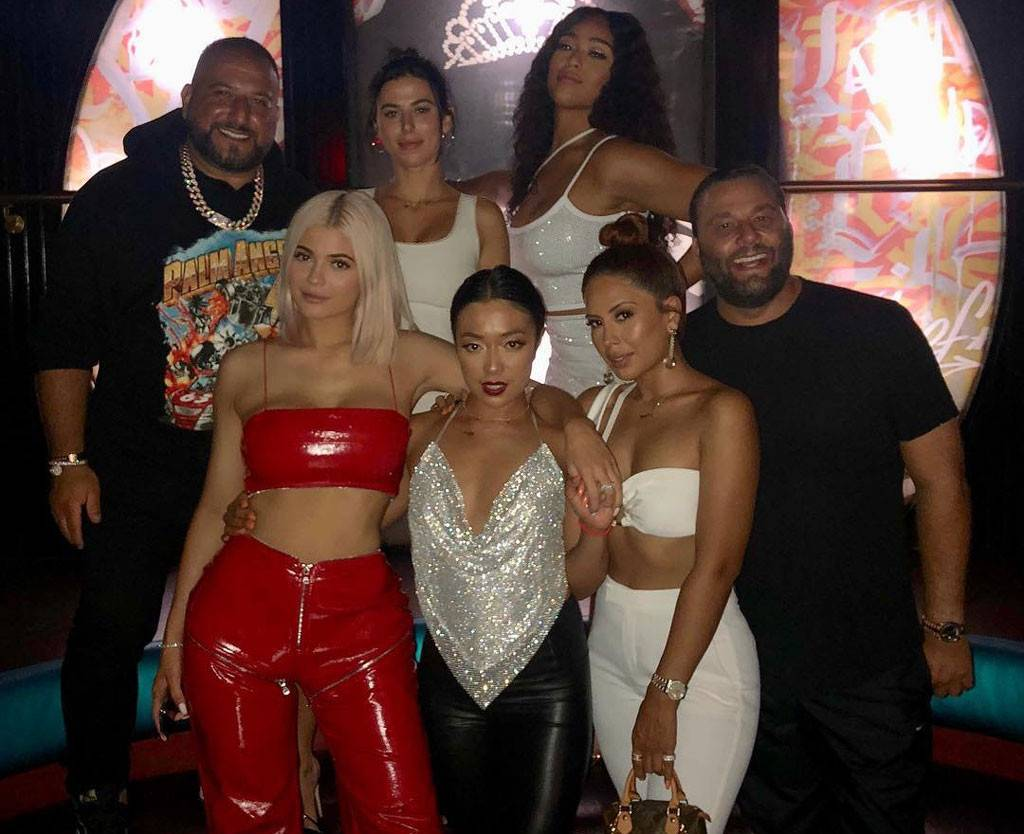 df237217b856 Kylie Jenner Rocks Red Leather Outfit for Jordyn Woods' 21st Birthday Party